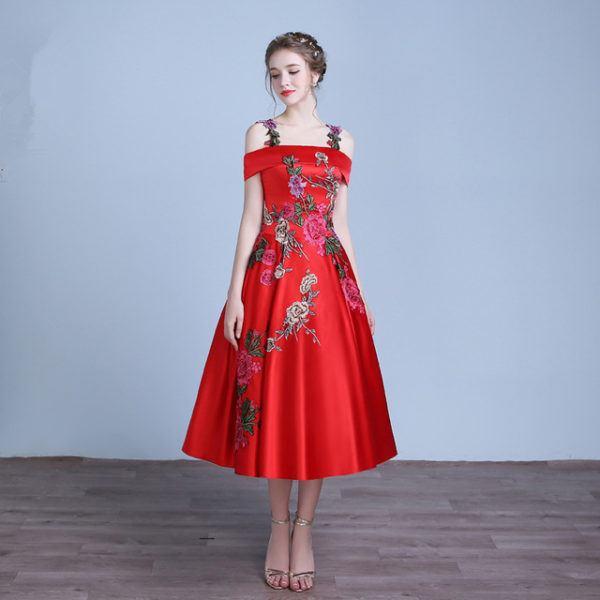 vestidos-rojos-fiesta-otono-rojo-corto-bordado-tafetan