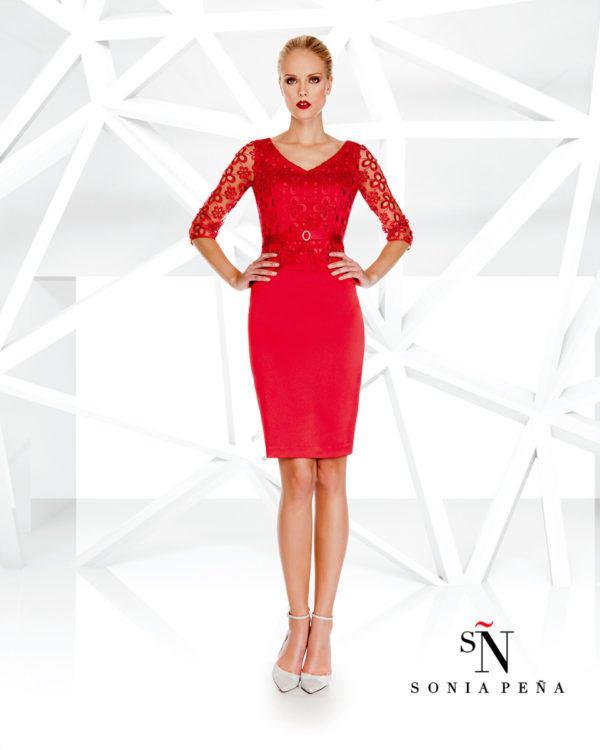 vestidos-rojos-fiesta-otono-rojo-corto-sonia-pena-encaje