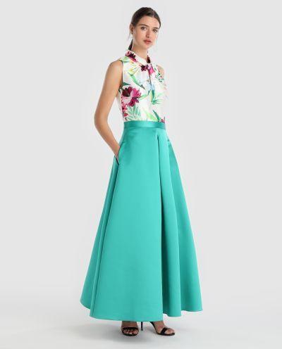 los-vestidos-de-comunion-para-madres-falda-larga-verde-fiesta-2018-elcorteingles