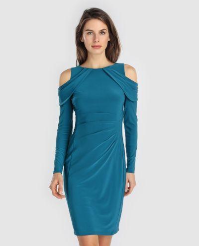 los-vestidos-de-comunion-para-madres-vestido-corto-azul-hombros-descubiertos-ralph-laurent-2018-elcorteingles