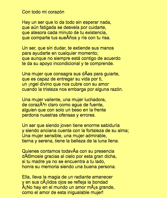 Gracias Madre Poemas poemas y poesías para el día de la madre 2018 - blogmujeres