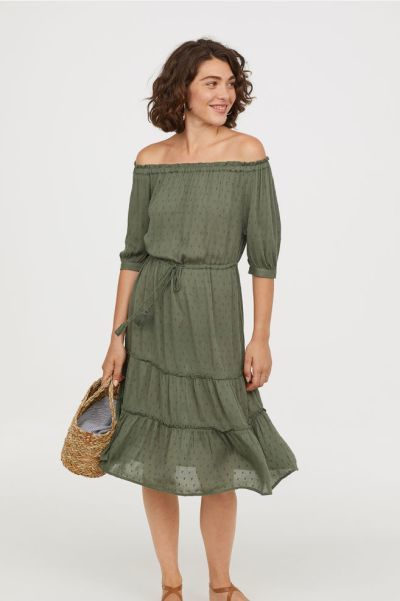 catalogo-hym-vestido-verde-hombro-descubierto