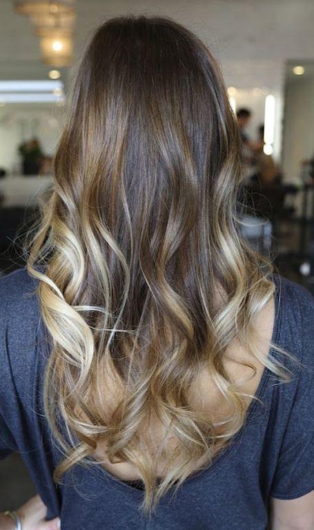 Color de pelo rubio con mechas chocolate