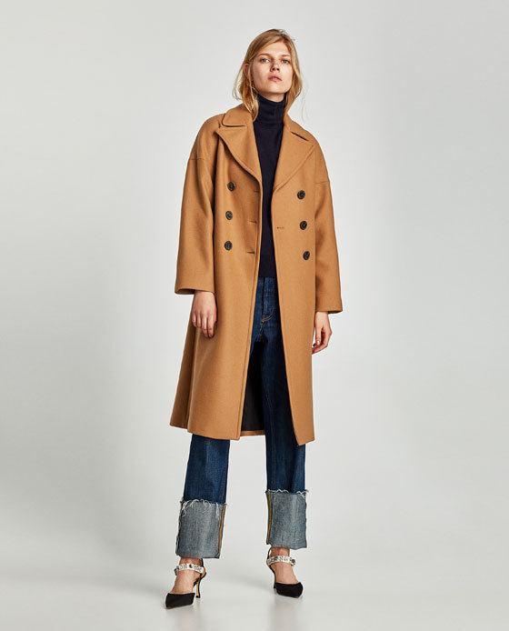 Abrigo negro largo mujer zara – Chaquetas de invierno 2018
