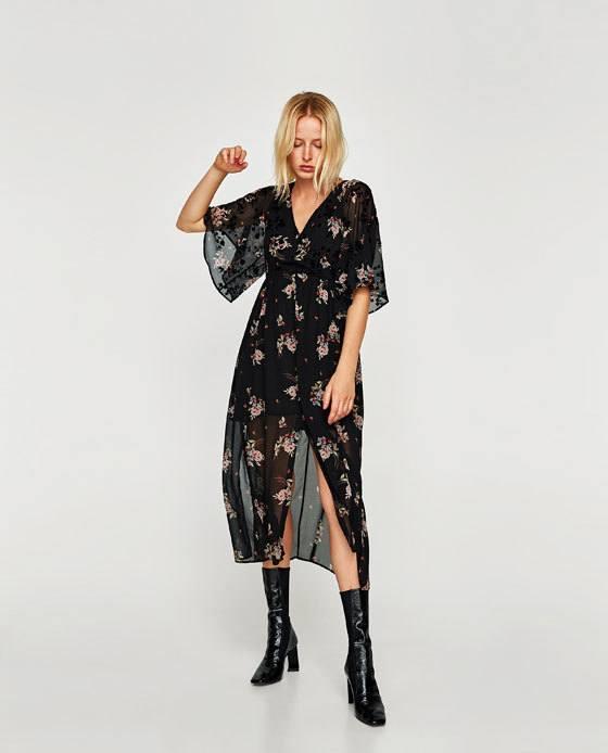 Vestido largo flores 2018