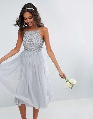 los-vestidos-de-novia-para-boda-civil-midi-con-tiras-y-cuentas-asos