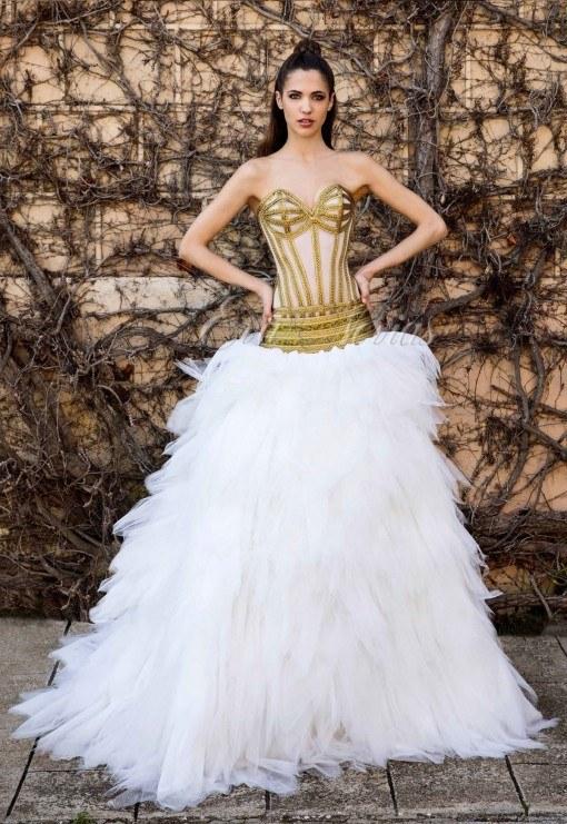 Vestidos de novia modernos de colores