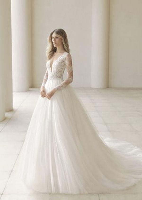 vestidos-de-novia-manga-larga-corte-princesa-rosaclara