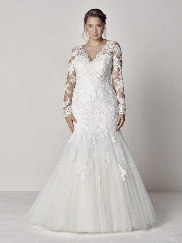 b421f4c8 Los vestidos de novia con manga larga Primavera Verano 2019 más ...