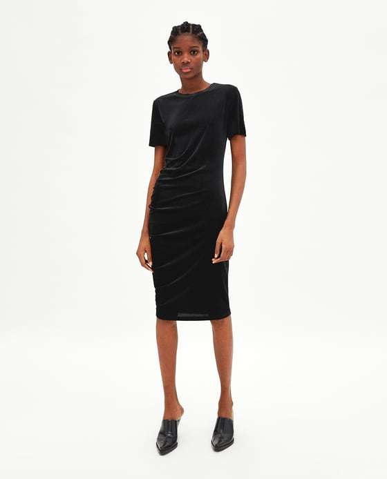 Vestido negro de vestir largos