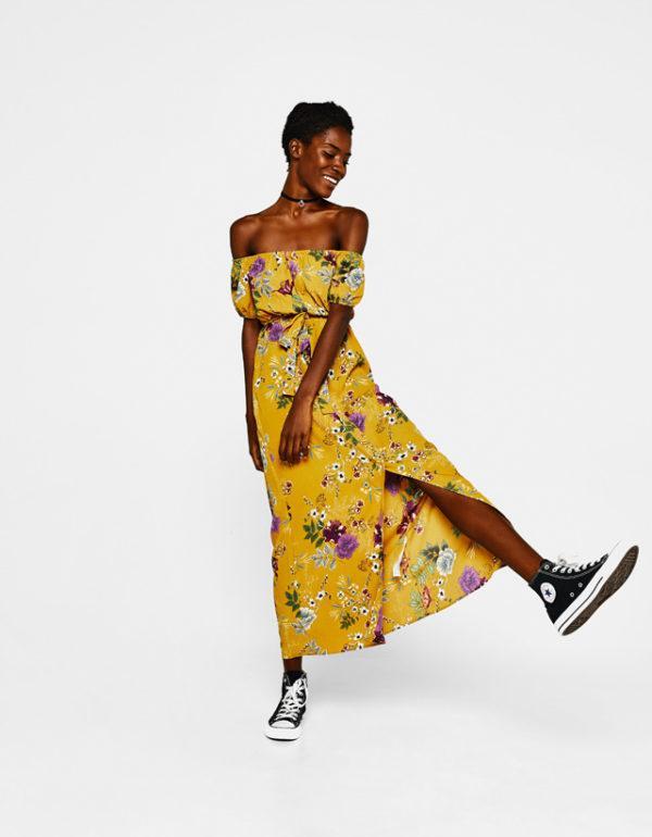 vestidos-amarillos-largo-estampado-flores-berska