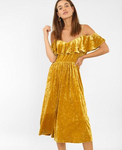 vestidos-amarillos-largo-mangas-cut-out-pimkie