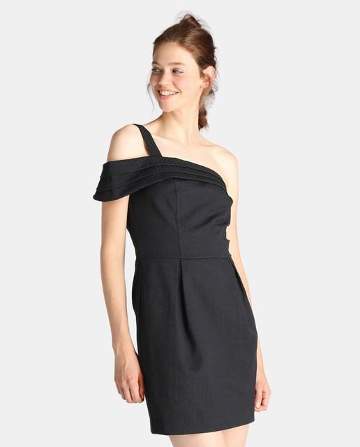 vestidos-negros-de-fiesta-cortos-hombro-al-aire-el-corte-ingles