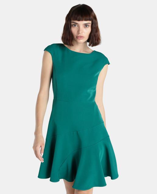 Vestido verde agua combina