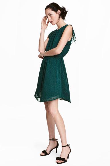 vestidos-verdes-vestido-verde-volantes-hm