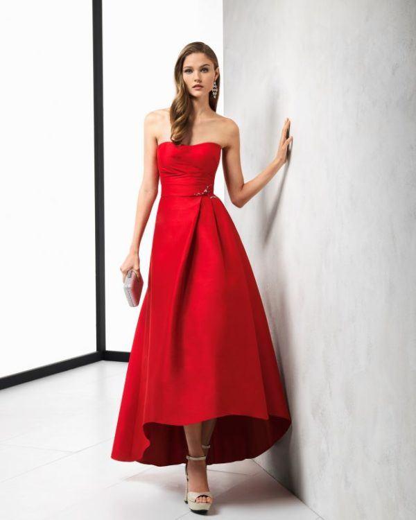 Vestidos de fiesta en color rojo cortos