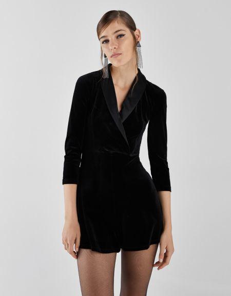 Vestido negro largo bershka