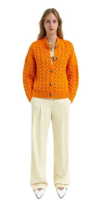 bimba-y-lola-catalogo-cardigan-trenzas-naranja