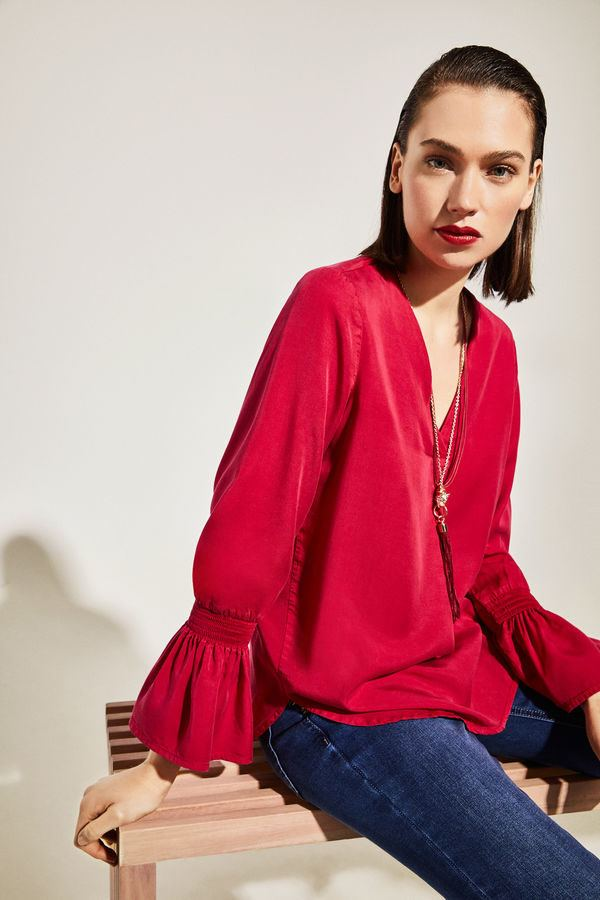 4ad5288c67 cortefiel-mujer-camisa-lyocell-mangas-elasticas