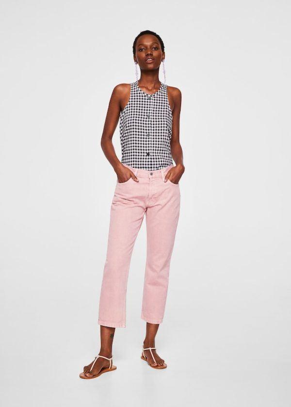 1ce1583848 ... nada como combinarla con jeans de colores como vemos en esta imagen