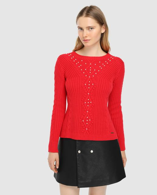 tintoretto-jersey-rojo-ochos-y-perlas