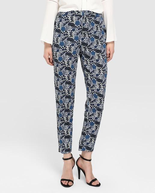 tintoretto-pantalon-fluido-de-flores