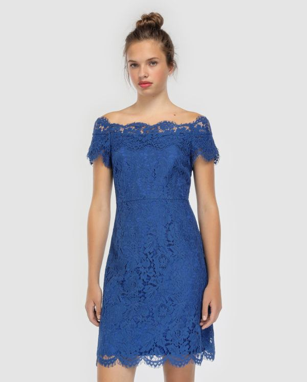 Modelos de vestidos largos en color azul