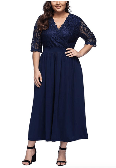 54059de226a3 de 50 Vestidos de fiesta para gorditas Verano 2019