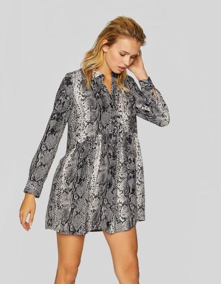vestidos-stradivarius-cortos-camisero-animal-print