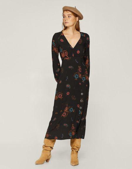vestidos-stradivarius-largos-estampado-flores