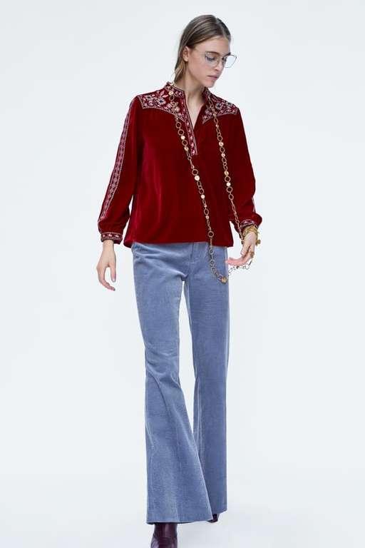 zara-otono-invierno-camisa-terciopelo-bordado