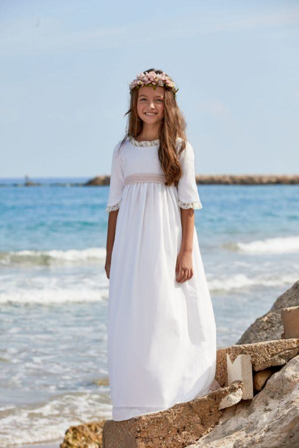 moda caliente 2019 mejor diseñador de moda Vestidos de comunión para niñas 2020: sencillos, modernos y ...