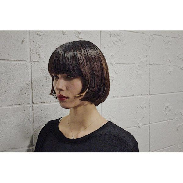 Corte de pelo bob con flequillo