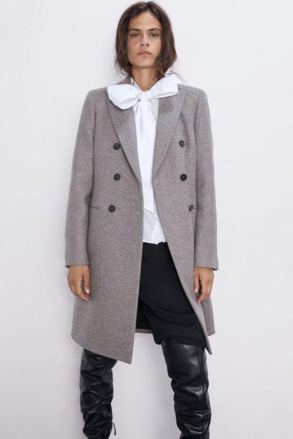 Un vestido, un jersey, un abrigo y una falda de Zara que