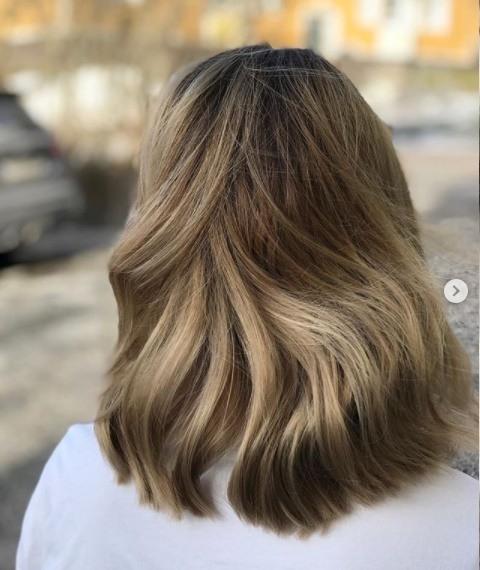 Color balayage pelo corto