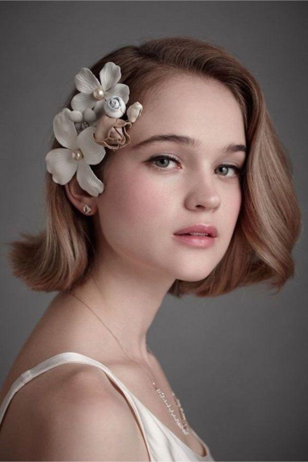 Impresionante peinados para pelo corto para boda Fotos de tutoriales de color de pelo - Peinados con pelo corto para boda 2020 - Blogmujeres.com