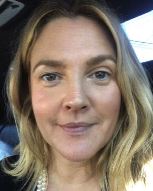 Drew Barrymore sin maquillaje
