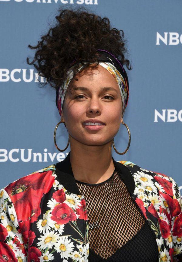 Alicia Keys sin maquillaje