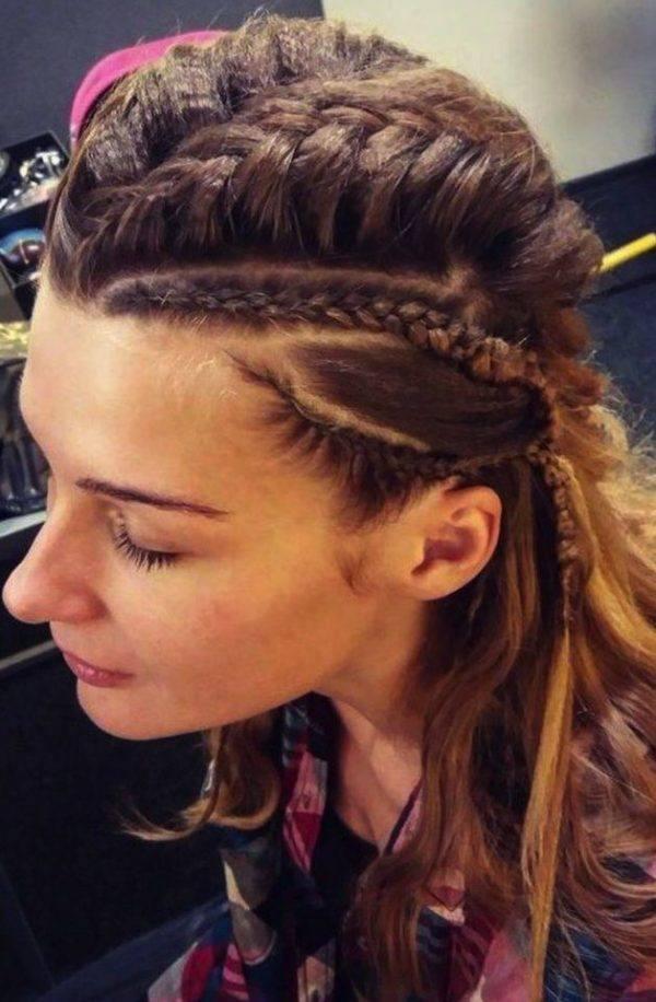 Ejemplo de peinado de Lagertha