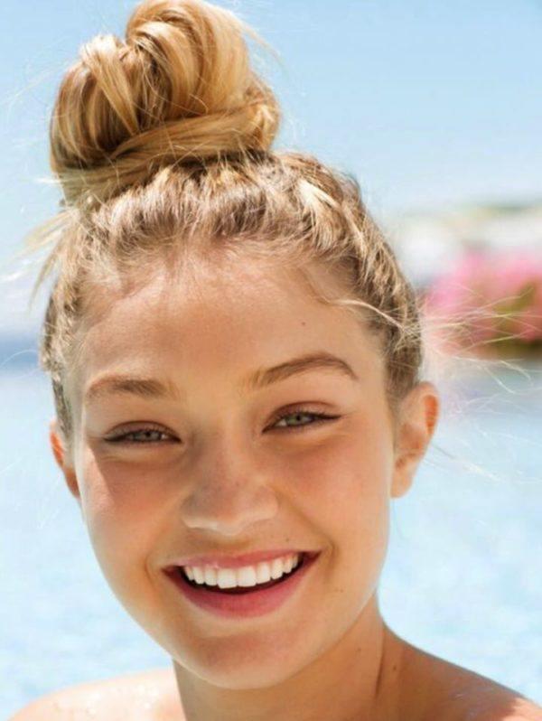 Gigi Hadid sin maquillaje