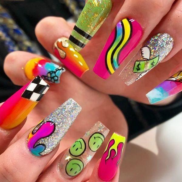 unas-decoradas-colores-dibujos-alegres-instagram