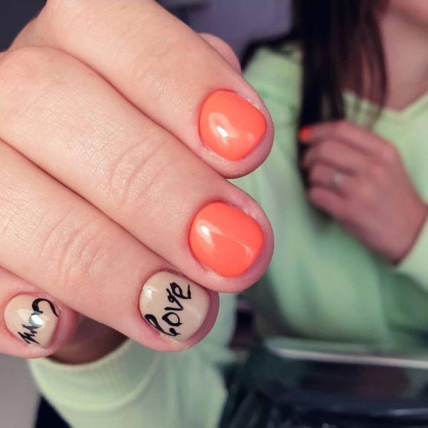 unas-decoradas-naranjas-love-instagram
