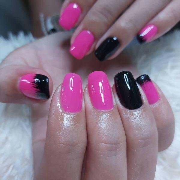 unas-decoradas-rosa-negro-porcelana-instagram