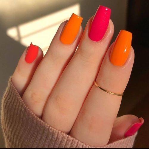 unas-de-porcelana-naranja-instagram-lotus-nails-garden