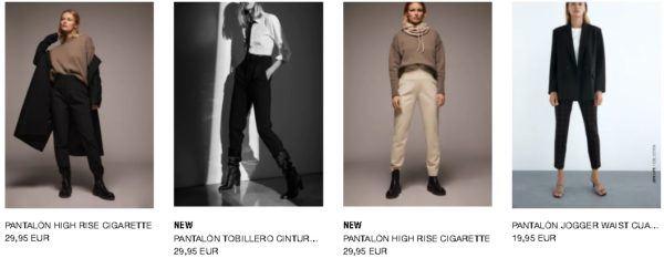 Pantalones Zara Otoño Invierno 2020 - 21